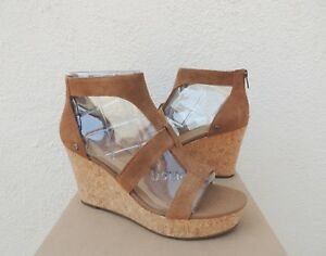 9d3659d9e63 Image is loading UGG-WHITNEY-SUEDE-STRAPPY-PLATFORM-WEDGE-HEELS-WOMEN-
