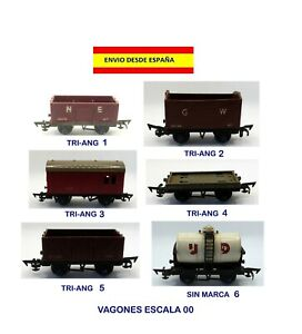 MODELISMO-FERROVIARIO-VAGONES-TRI-ANG-ESCALA-00-TRENES-V-AS-MAQUETAS-LOCOMOTORAS