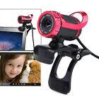 USB 12 Megapixel HD Camera WebCam 360° MIC Clip-on for Computer Laptop PC Skype