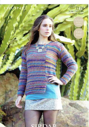Knitting Patterns for Sirdar Divine 7178 7176 7177 7174 7173 7175 7180