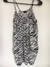 Zebra Print Mini Dress Size S  Tie-Waist With Pockets