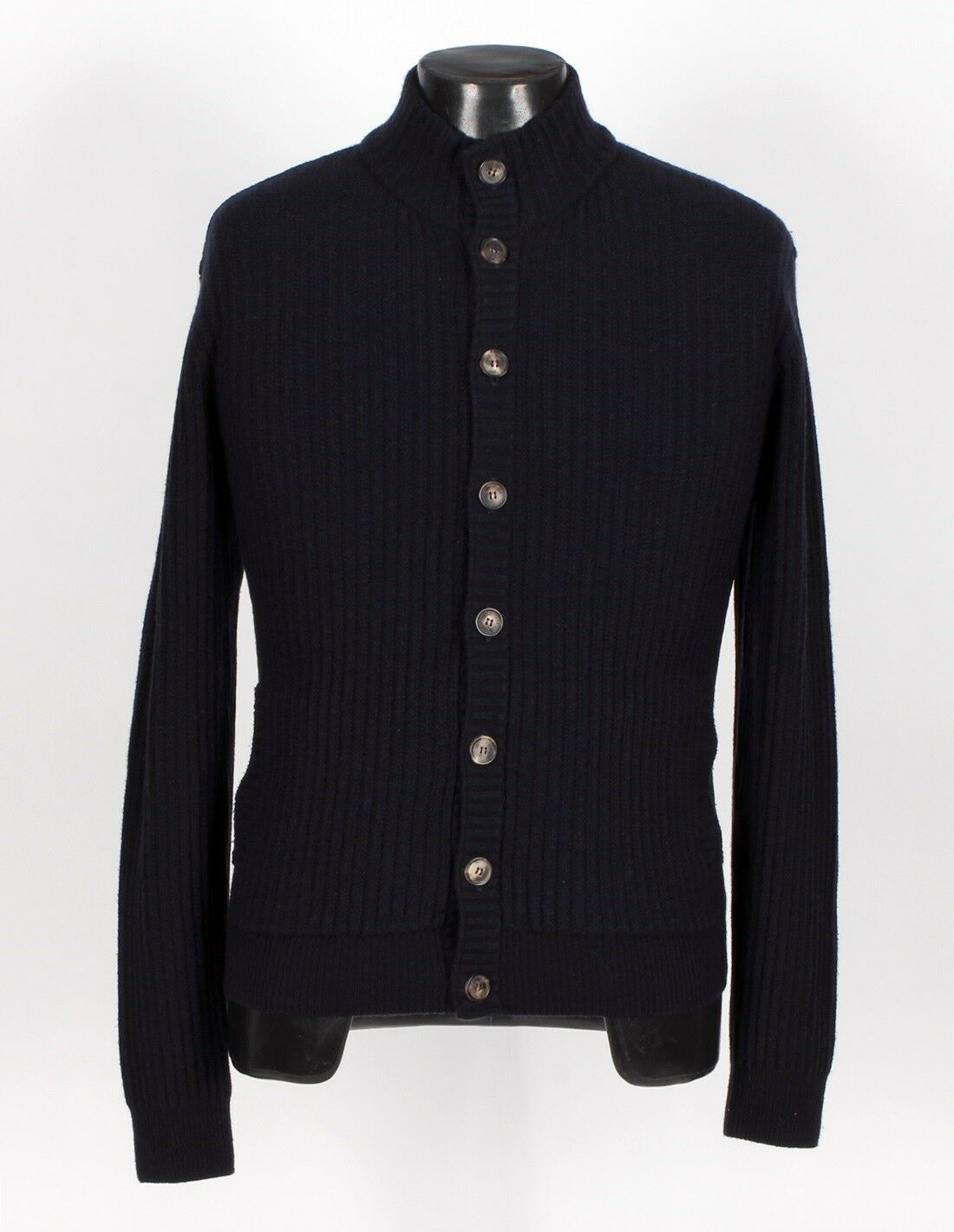 2575 - LORO PIANA 100% BABY CASHMERE Cardigan Sweater - Blau - 48 M Medium