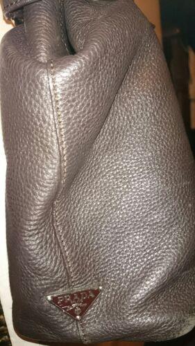 sac marron usagᄄᆭ Prada Grand seau cuir en I6gbf7ymYv
