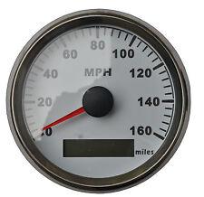 GPS MPH Speedometer Gauge Odometer White Background For ATV UTV Motorcycle Marin