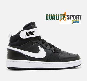 Detalles de Nike Court Borough Medio Negro Zapatos Niño Mujer Zapatillas  CD7782 010 2019