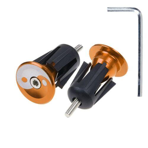 1 Pair Bike Bicycle Aluminum Handlebar Grips Cap Plug Handle Bar Caps End Plugs