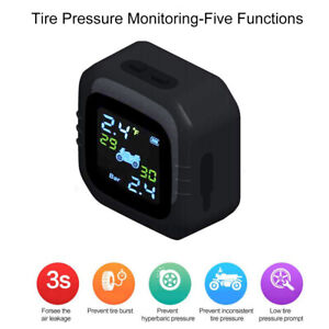 Motorcycle-TPMS-Tire-Temp-Pressure-Monitor-System-Sensors-Waterproof-MA2105