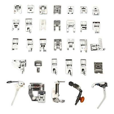 32pc Domestic Sewing Machine Foot Presser Feet Set For Brother Singer Janome DIY