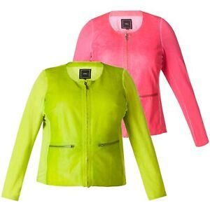 6fd8edb4ea8dc7 Das Bild wird geladen X-Two-Jacke-Joseline-Damen-Kunstleder-Sommerjacke