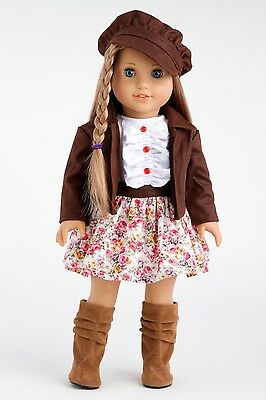 Urban Explorer - 18 inch Doll Clothes Motorcycle Jacket Dress Paperboy Hat Boots