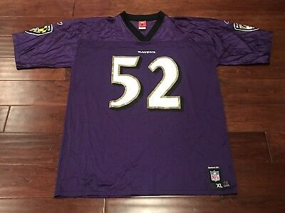 discount bc794 e4459 Vintage Reebok Ray Lewis 52 Baltimore Ravens Purple White ...