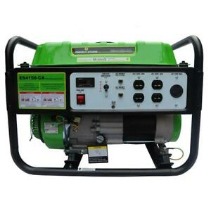 Portable Generator Gas Powered Recoil Start Gasoline Powered 225 cc 3200/3500-W