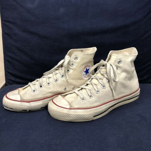Vintage Converse Made In Usa Chuck Taylor 1980s Wh