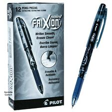 Pilot 31573 Black Frixion Point 05mm Extra Fine Erasable Gel Ink Pens Box Of 12
