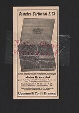 BREMEN, Werbung 1926, Upmann & Co. GmbH Sumatra Zigarren