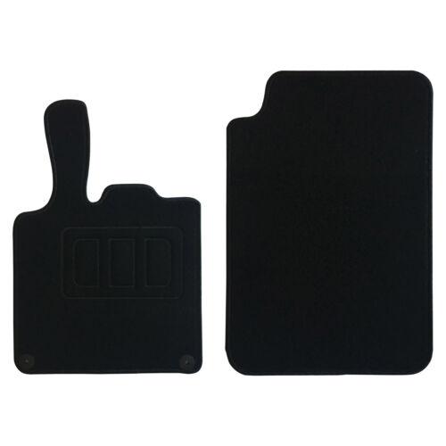 SITU Fußmatten Smart Fortwo 451 Velours Automatten Teppich Schwarz SCM0108