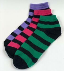 New Cotton Women/'s Girls Argyle Ankle Low Cut Socks 9-11