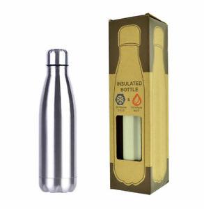 Borraccia-Portatile-Acciaio-Inox-Bottiglia-Termica-D-039-acqua-Sport-350-ML-Termos
