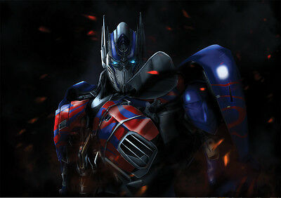 LóGico Sticker Autocollant Poster A4 Film Transformers.optimus Prime Chef Autobots . Para Hacer Que Uno Se Sienta A Gusto Y EnéRgico