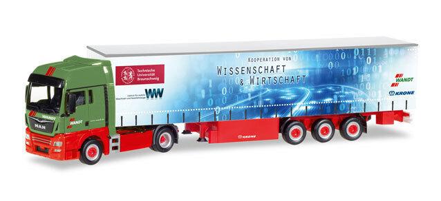 Herpa 307925 MAN TGX XXL Szg Spedition   Wandt   TU BS   Braunschweig 1 87  | Mittel Preis