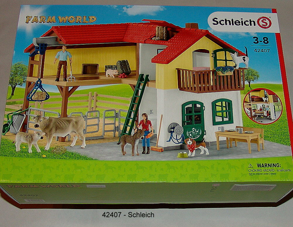 42407 - Schleich 42407 Farmer House with Stall and Animals Nip