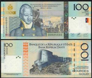 HAITI-100-GOURDES-2004-COMMEMORATIVE-P275-UNCIRCULATED