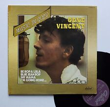 "Vinyle 33T Gene Vincent  ""Music in gold"""