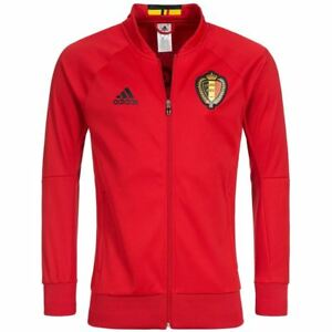 Adidas-Belgique-Anthem-Veste-Rouge-Haut-de-Survetement-Kbvb-National-Team-XS