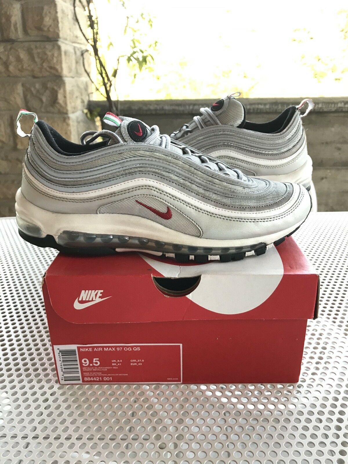 Nike air max 97 argent Laargent italy exclusive us 9.5 uk 8.5 eu 43 undefeated