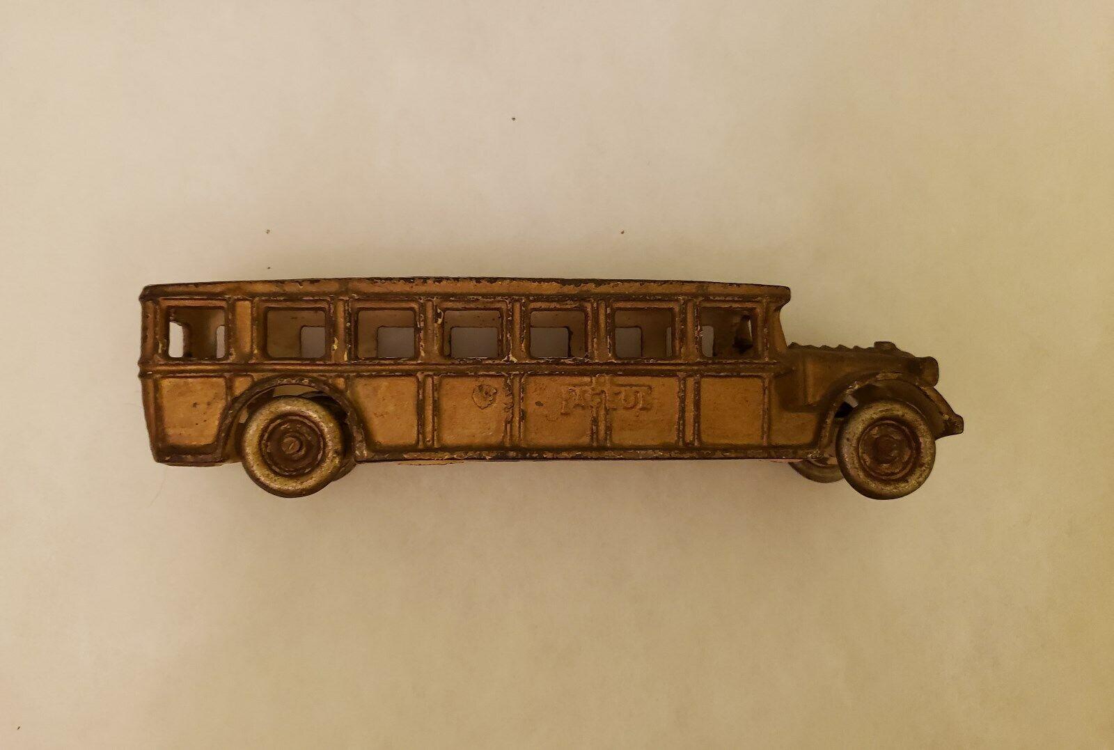 Década de 1930 Arcade fageol de hierro fundido Juguete de bus de 8