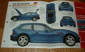 Image Is Loading 1998 Bmw Z3 M Coupe Original Imp Brochure