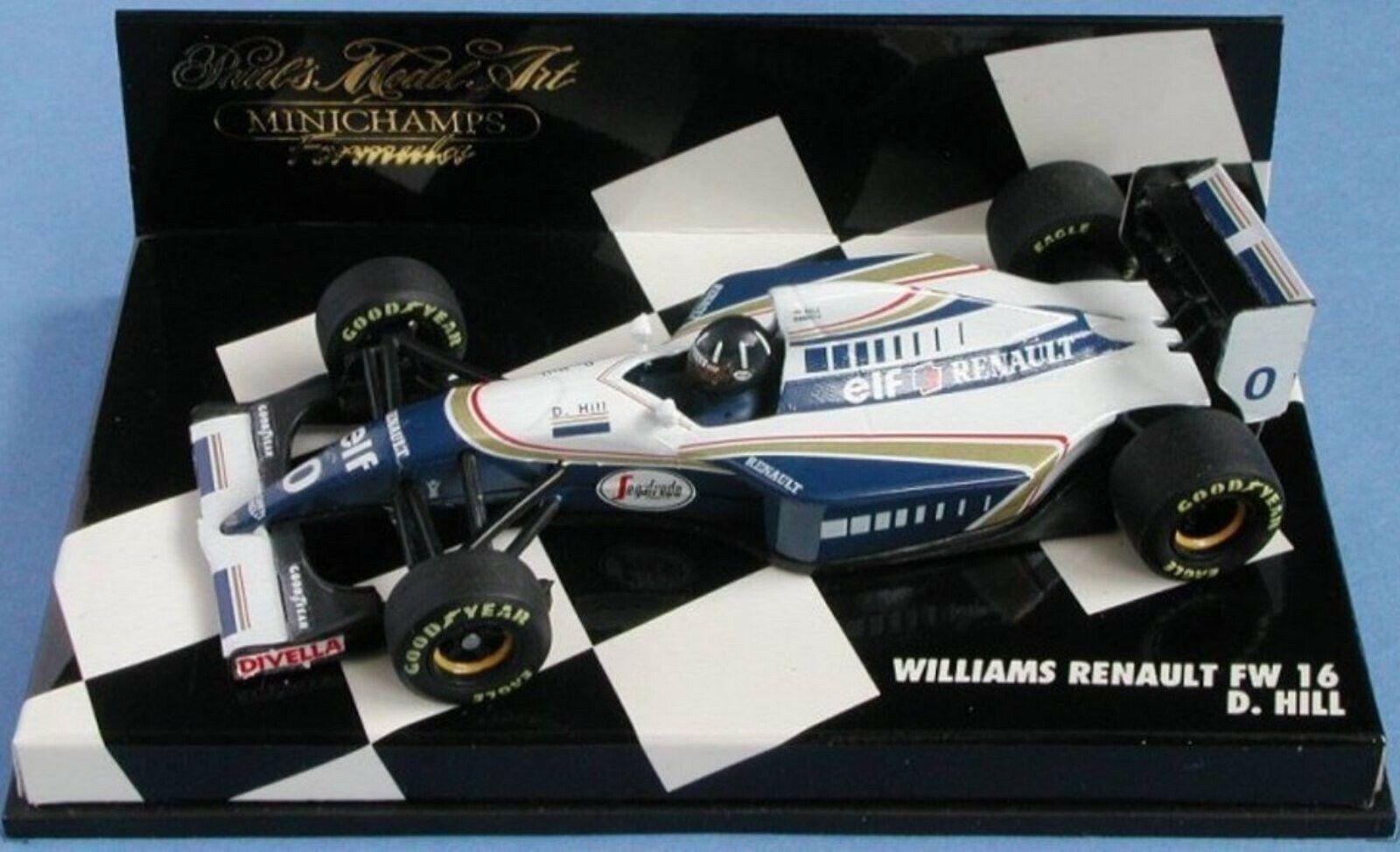 Wow extrêmement rare WILLIAMS FW16 RENAULT HILL 2nd GP France 1994 1 43 Minichamps
