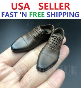 1//6 scale Brown Boots Shoes PEG BASED for 12/'/' MALE Action Figure Accessory