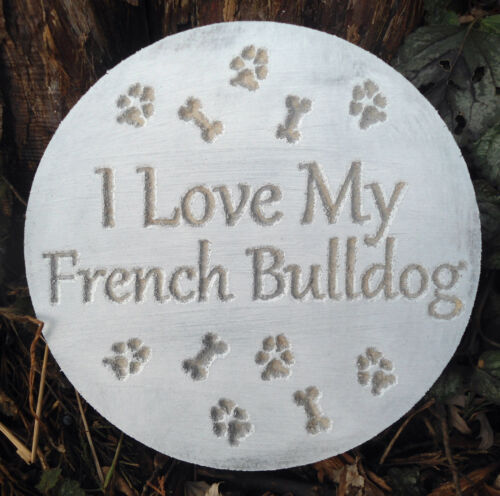 French Bulldog mold garden ornament plaque casting mould bull dog