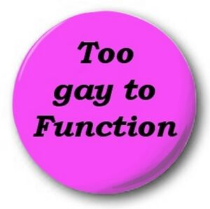 Too-Gay-a-Funcion-25mm-1-034-Boton-Insignia-Lindos-ORGULLO-GAY-lgb