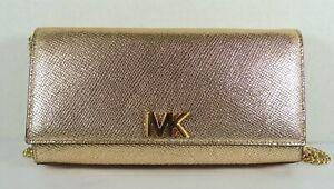 4506d2014173 MICHAEL Michael Kors Mott Large Leather East West Clutch in Gold ...