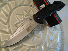 Smith & Wesson Military Police Drop Point Flipper Pocket Knife SWMP10 7Cr17MoV