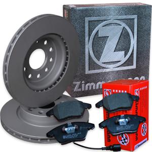 Bremse-VW-Passat-3C-1-9TDI-2-0TDI-Zimmermann-Bremsscheiben-Bremsbelaege-vorne