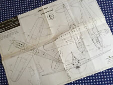 AIRCRAFT PLAN MACCHI MC. 202 SERIES IX FOLGORE 1/32 SCALE KOKU FAN JSS Italian