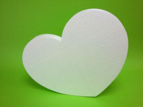 Herz 60//50//5 cm 2-teilig Muttertagsgeschenk selber machen Maiherz groß Styropor