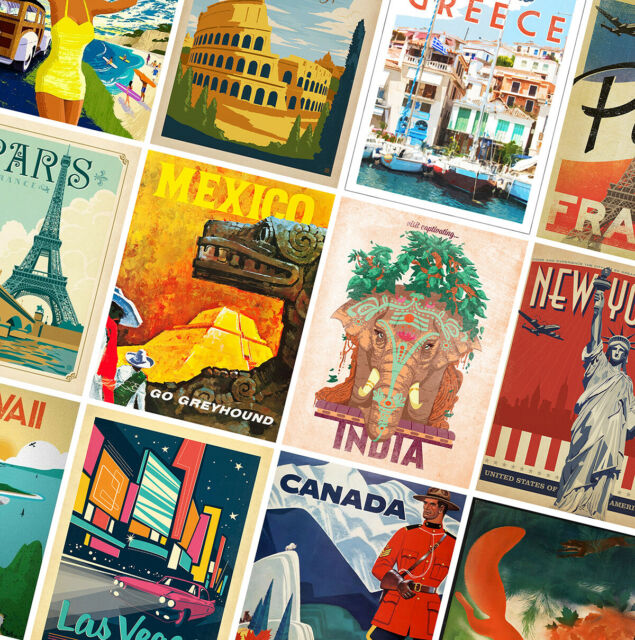 Vintage Florida Fly TWA Tourism Holiday Travel Poster Print Picture A3 A4
