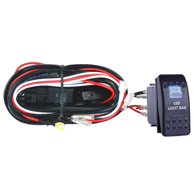 40a Wiring Harness Kit Led Light Bar Rocker Switch Toggle
