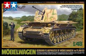 TAMIYA-1-48-German-Flakpanzer-IV-Mobelwagen-w-Flak43-Model-Kit-NEW-from-Japan