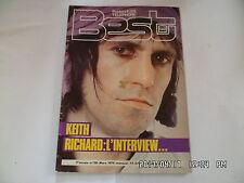 BEST N°128 03/1979 KEITH RICHARD QUEEN TIM BLAKE BERNARD LAVILLIERS       H26