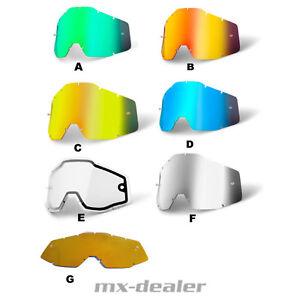 100-occhiali-vetro-vetro-di-Ricambio-Vetro-Specchio-Vetro-Strata-ACCURI-RACECRAFT