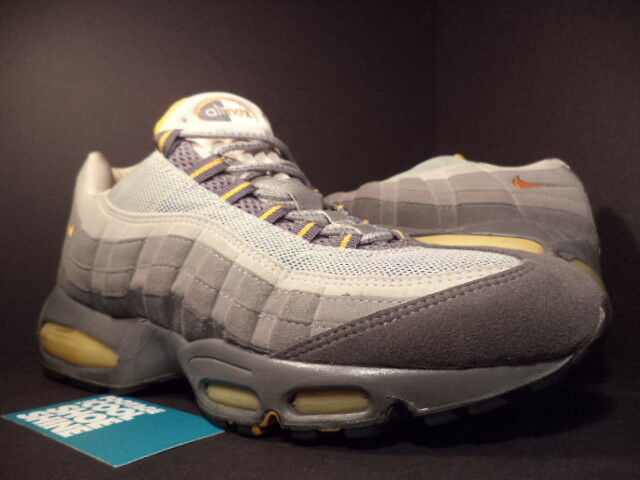 2000 Nike Air Max 95 SC GRAPHITE COOL GREY WHITE BLACK orange PEEL 604116-081 11