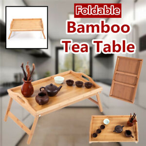 Portable-Folding-Bamboo-Wood-TV-Tray-Tea-Table-Coffee-Stand-Serving-Snack