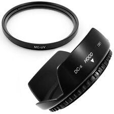 55mm Lens Hood Flower Wide Petal,MCUV Filter for Panasonic Lumix DMC-FZ50 FZ30
