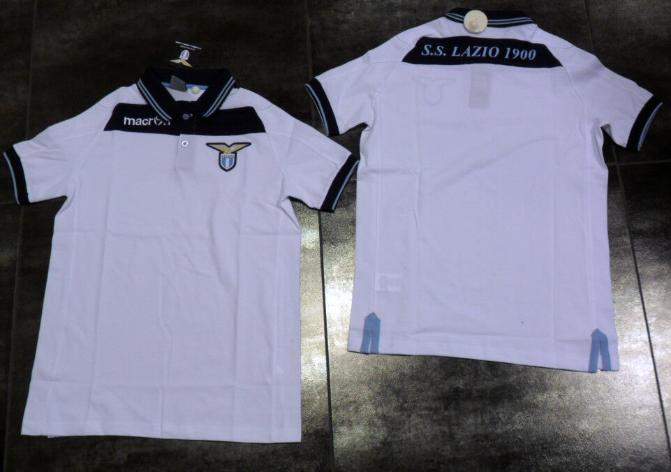 TG XL MACRON SS LAZIO POLO RAPPRESENTANZA OFFICIAL COTTON SHIRT 2013   30 bia