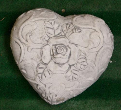 au gel nouveau coeurs po-123 pour jardin Coeur avec rose sculpture de steinguss